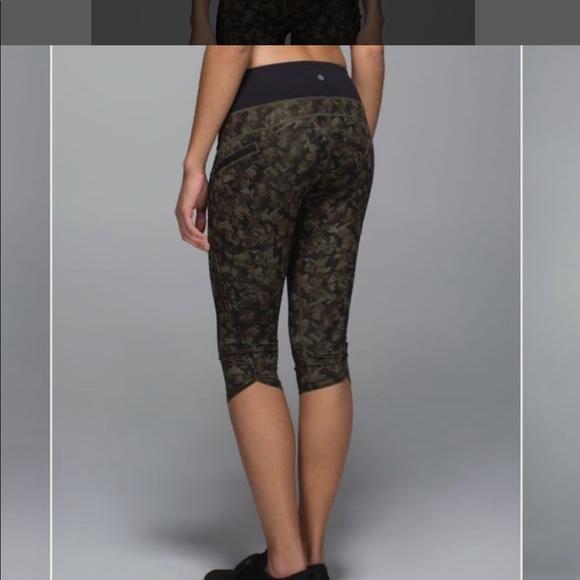 Lululemon Athletica Pants Jumpsuits Lululemon Crop Camo Leggings Poshmark